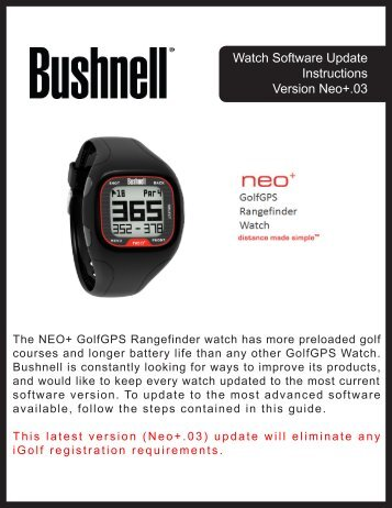 Watch Software Update Instructions Version Neo+.03 - GPS Central