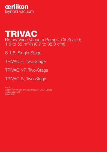 oerlikon Catalogue: TRIVAC - Javac