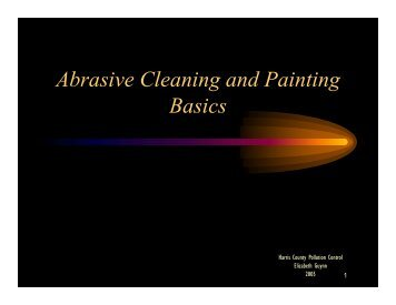 Abrasive Cleaning and Painting Basics