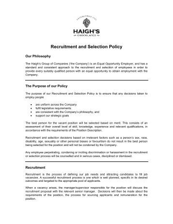 disability recruitment and selection Recruitment and selection process of human resources  regardless of race,  sex, religion, nationality, disability or political affiliation that is stated in the final.