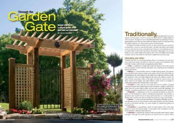 Through the Garden Gate Design and build a unique gated arbor ...