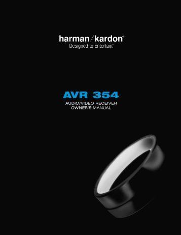 Owners Manual - Harman Kardon
