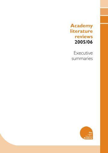 LiteratureReviewsSummarys.pdf - Higher Education Academy