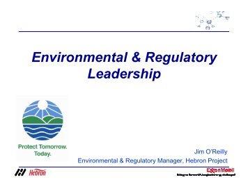 Environment & Regulatory Leadership - ExxonMobil - Hebron Project