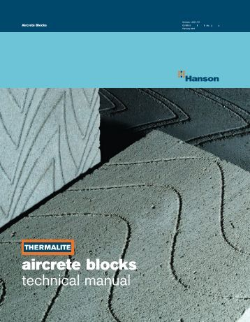 aircrete blocks technical manual - HeidelbergCement