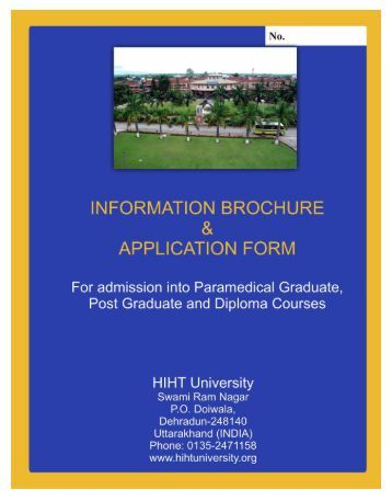 information brochure & application form - HIHT University