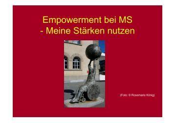 Empowerment bei MS - Meine Stärken nutzen - DMSG