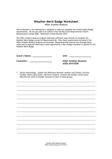 Golf Merit Badge Worksheet Free Worksheets Library | Download and ...