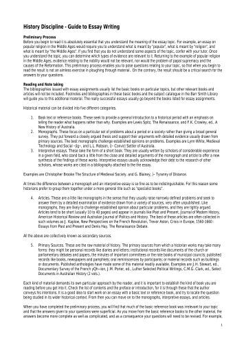 uvic history essay guide University of victora: department of greek and roman studies essay writing guidelines why lose marks for inattention to grammar, punctuation, and spelling.