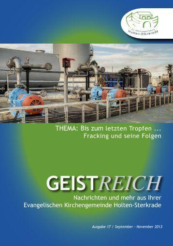 GeistReich 4/2013 - Evangelische Kirchengemeinde