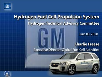 Hydrogen Fuel Cell Propulsion System - DOE Hydrogen and Fuel ...