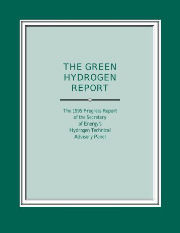 The Green Hydrogen Report - DOE Hydrogen and Fuel Cells ...