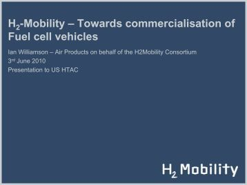Towards Cmmercialization of Fuel Cell Vehicles - DOE Hydrogen ...