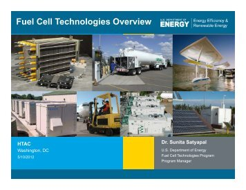Fuel Cell Technologies Overview - DOE Hydrogen and Fuel Cells ...