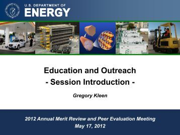 Overview of Education - DOE Hydrogen and Fuel Cells Program ...