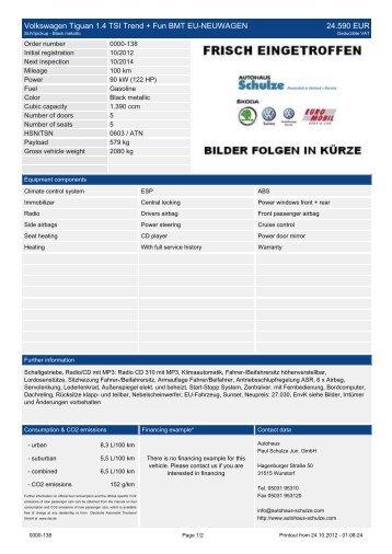 Volkswagen Tiguan FACELIFT 2.0 TDI Trend+ ... - Autohaus Schulze
