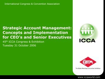 Strategic Account Management: Concepts and Implementation - ICCA