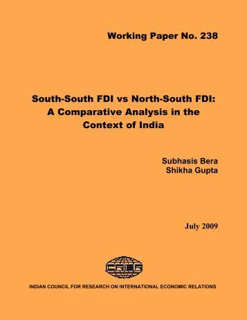 South-South FDI vs North-South FDI: A Comparative Analysis ... - icrier