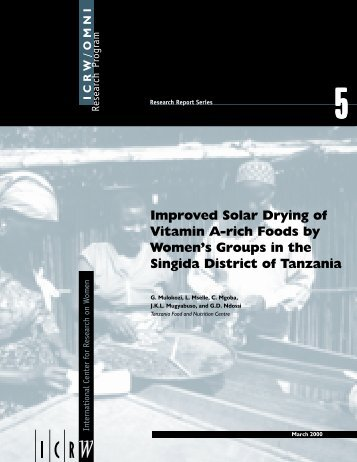 Improved Solar Drying of Vitamin A-rich Foods by Women's ... - ICRW