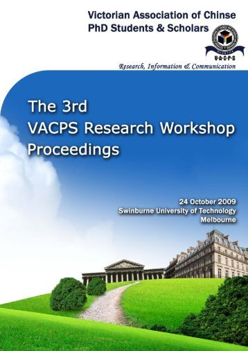 Workshop proceeding - final.pdf - Faculty of Information and ...