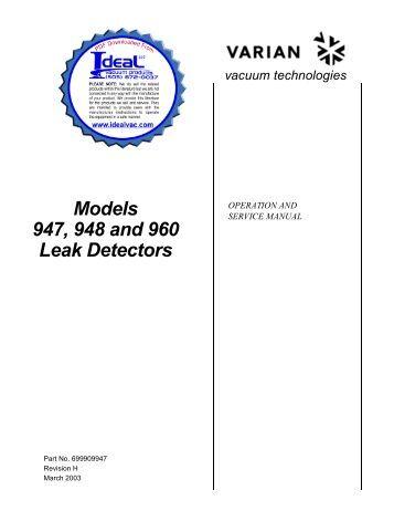 Oil Mist Eliminator for VSPR Series Leak Detectors