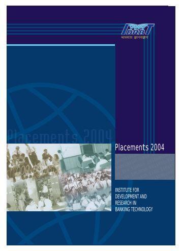Placements 2004 - IDRBT