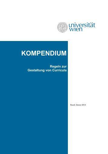 KOMPENDIUM - Senat - Universität Wien