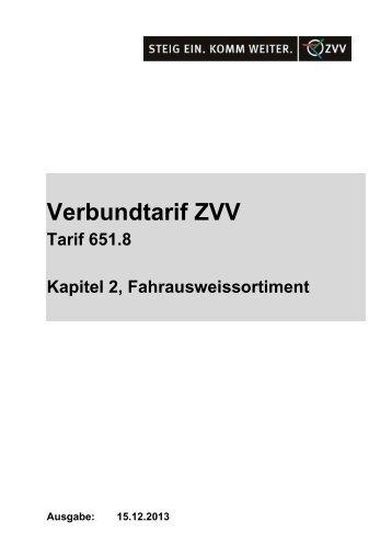 Fahrausweissortiment (PDF, 31KB) - ZVV