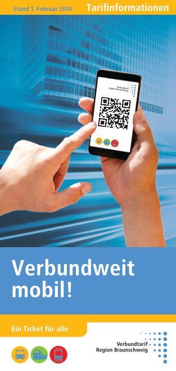 Fahrpreisübersicht Verbundtarif Region Braunschweig ab 01.02.2014