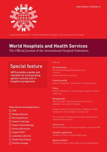 World Hospitals and Health Services Special feature - International ...