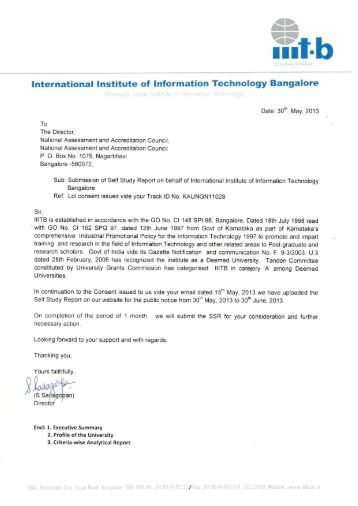 Self Study Report for NAAC Accreditation - International Institute of ...