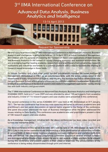Request for Sponsorship - Indian Institute of Management ...
