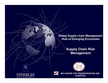 Supply Chain Risk Management - Indian Institute of Management ...
