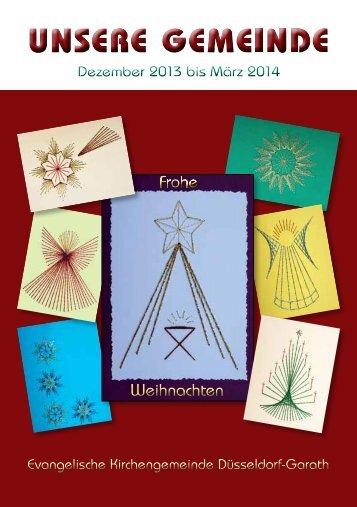 Gemeindebrief 3/2013 lesen. - Ev. Kirchengemeinde Düsseldorf ...