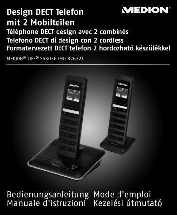 Design DECT Telefon mit 2 Mobilteilen ... - Medion