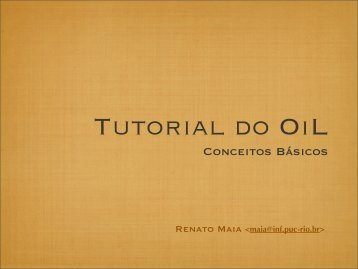 Tutorial do OiL - PUC-Rio