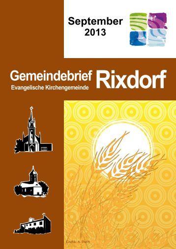 September 2013 - Ev. Kirchengemeinde Rixdorf