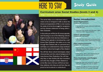 HERE TO STAY Study Guide - Tvnz
