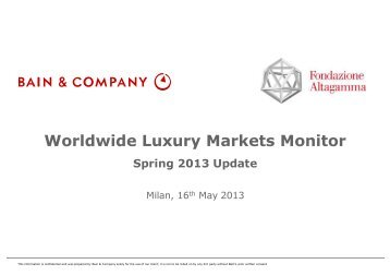 2013 Bain Luxury Study Spring Update - French Chamber of ...