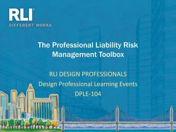 professional and design liability Xl catlin has enhanced its online underwriting platform for design professional brokers to offer capabilities for quick, single-point access to rate, bind and issue professional liability insurance coverage for architects, engineers, and other design professionals the technology is compatible on tablet and.