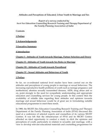 perceptions of youth towards premarital sex Adolescent sexuality and culture 119  the children's attitudes towards  majority of young people are sexually active by the age of twenty and premarital sex.