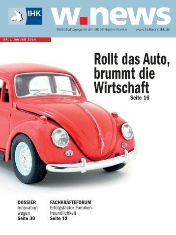 Wirtschaftsfaktor Automobil | w.news 01.2014