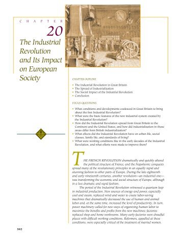 20 The Industrial Revolution and Its Impact on European Society