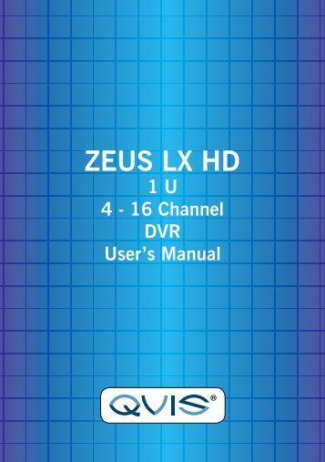 LX Zeus HD Manual - Qvis Security