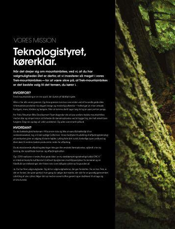 Teknologistyret, kørerklar. - Trek Bicycle Corporation