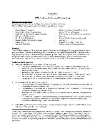 White Paper's - Directorate of Defense Trade Controls