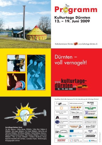 Flyer der Kulturtage - Ortskundliche Sammlung Dürnten