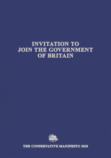 invitation to join the government of britain - Fleet News