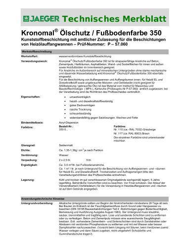 Technisches Merkblatt - Paul Jaeger GmbH & Co. KG