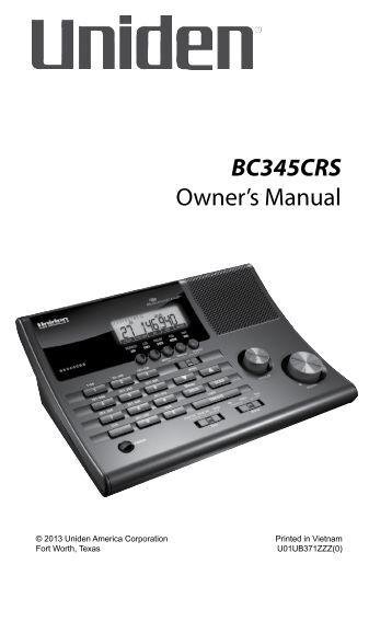 radio shack pro 46 owners manual